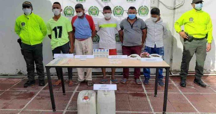 Capturados cinco presuntos expendedores de drogas