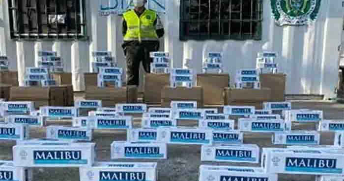Dian y Polfa aprehenden más de 16 mil Cajetillas de cigarrillos de contrabando