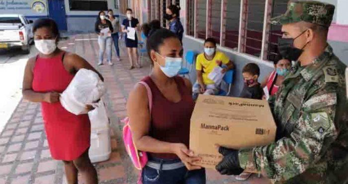 El Ejército Nacional y la Fundación Orden de Malta Colombia Ayudan a los más Necesitados en Pandemia COVID 19